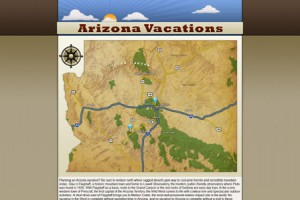 Arizona Vacations Map