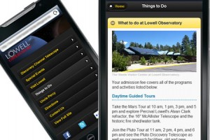 Lowell Observatory's Custom Mobile Website